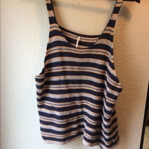 Free People striped top.Size M